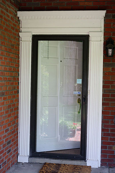 residential aluminum and glass storm door, USA