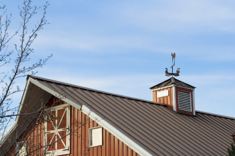 Barn with a Metal Roof