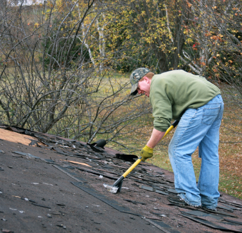 Removal of a Shingle Roof