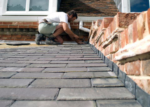 Slate Rubber Roof Install